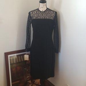 Vintage lace black dress